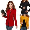 2017 Spring Summer Women Slim Zipper Asymmetric Formal Jacket Womens Office Work Wear Fall Black Overcoat dresses