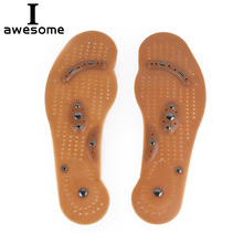 1 Pair Massage Shoes Magnetic Therapy Pads Acupressure Slimming Insoles Promote Blood Circulation Foot Magnet Health Care Insert elino magnetic therapy massager insoles for men women promote blood circulation foot health care magnetoterap shoes insole