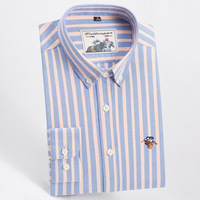 Plus Size 5XL 6XL 7XL High Quality Pure Cotton Stripe Twill Solid Color Casual Business Oxford Long Sleeve Dress Shirts Fashion