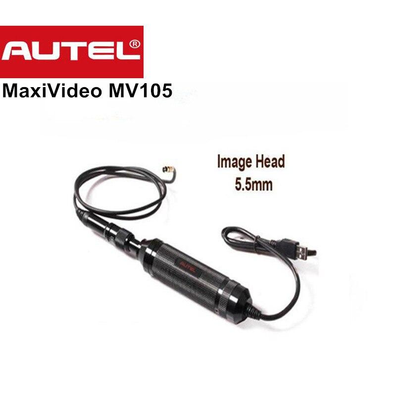 Autel MaxiVideo MV105 5.5mm Numérique Videoscope Imageur pour MaxiSys Tablet Kit De Voiture Outil De Diagnostic Scanner MV 105