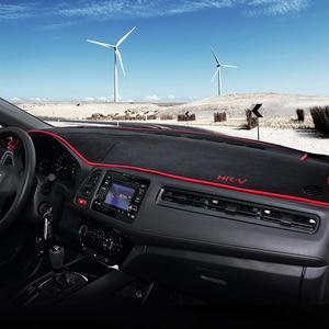 Image 2 - עבור הונדה HRV HR V Vezel 2014 2015 2016 2017 2018 2019 LHD/RHD רכב לוח מחוונים כיסוי מחצלות רפידות אנטי Uv מקרה שטיחים אבזרים