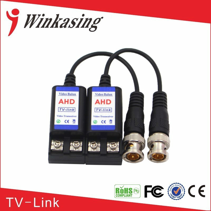 Good quality up to 600m Male BNC connector video balun passive Video Balun With Cable For CCTV Camera single channel passive video balun grey silver 2 pcs