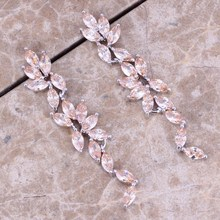 Valuable Brown Morganite 925 Sterling Silver Drop Dangle Earrings For Women S0204