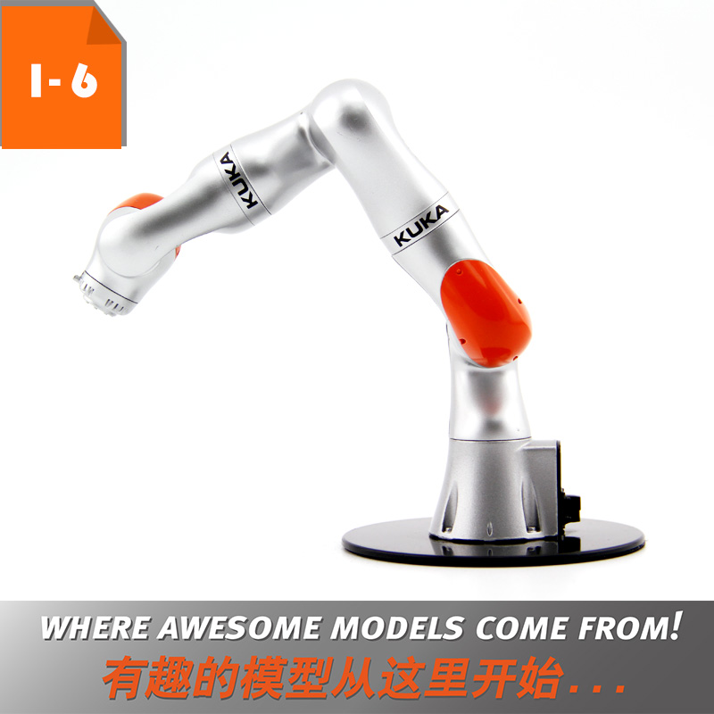 US $89 0 |Robot 3D Model Toy Gift 1:6 KUKA LBR iiwa Industrial Robot Model  Manipulator Arm Model Vertical Multiple Joint for Education on