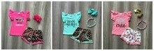 Ropa de verano para niñas pequeñas, pantalones cortos con pompón, trajes de leopardo de Jesús, accesorios de boutique con volantes