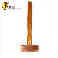 3 6 kg/8 lb  Rot Kupfer achteckigen hammer mit holzgriff  Sledge Hammer Explosion proof hammer-in Hammer aus Werkzeug bei
