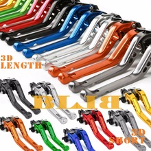 For Yamaha TDM 900 2002-2003 FZS 600 Fazer 1998-2003 CNC Motorcycle 3D Long/Short Brake Clutch Levers Moto Shortly/Longer Lever