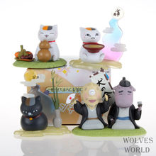 Huong Anime Figure 6-7 CM 4pcs/set Natsume Yuujinchou Nyanko PVC Action Figure Doll Toy Model Collectibles