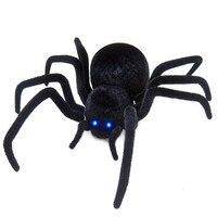 Abbyfrank Realistic Rc Simulation Animal Plush Creepy Spider Remote Control Kids Toys Fake Crawl Prank Trick