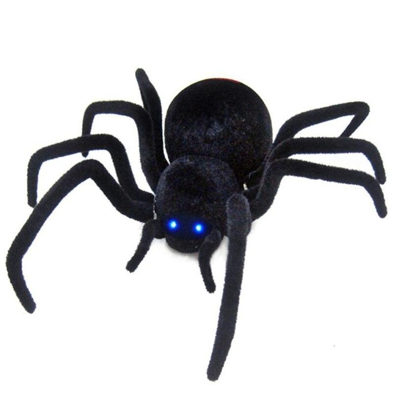 Abbyfrank Réaliste Rc Simulation Peluche Creepy Araignée Télécommande Enfants Jouets Faux Crawl Prank Trick Halloween Cadeau