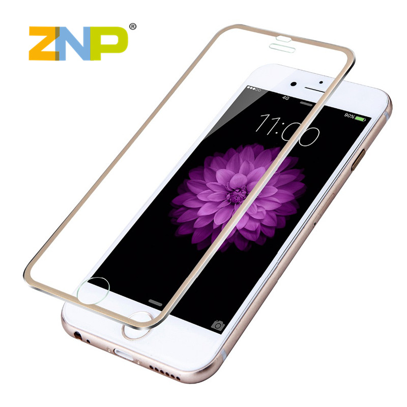 Screen protector for iPhone 5 5s 6 6s Plus toughened glass the whole 3d surface edge titanium protective film completely covered