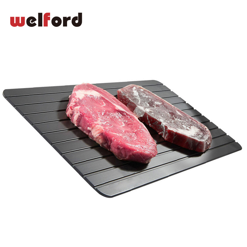2018 Frozen Fast Defrosting Tray Thaw Rapid Heating Tray Freezing Meat Food Defroster Ontdooi Microwave Fish Board Kitchen Tools