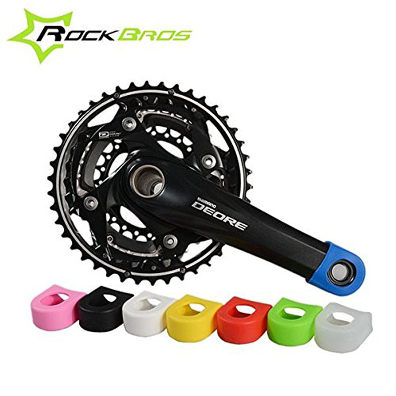 Cover Bicycle  Crank Protector Protective Sheath Gel Sleeve Crankset Arm Boots
