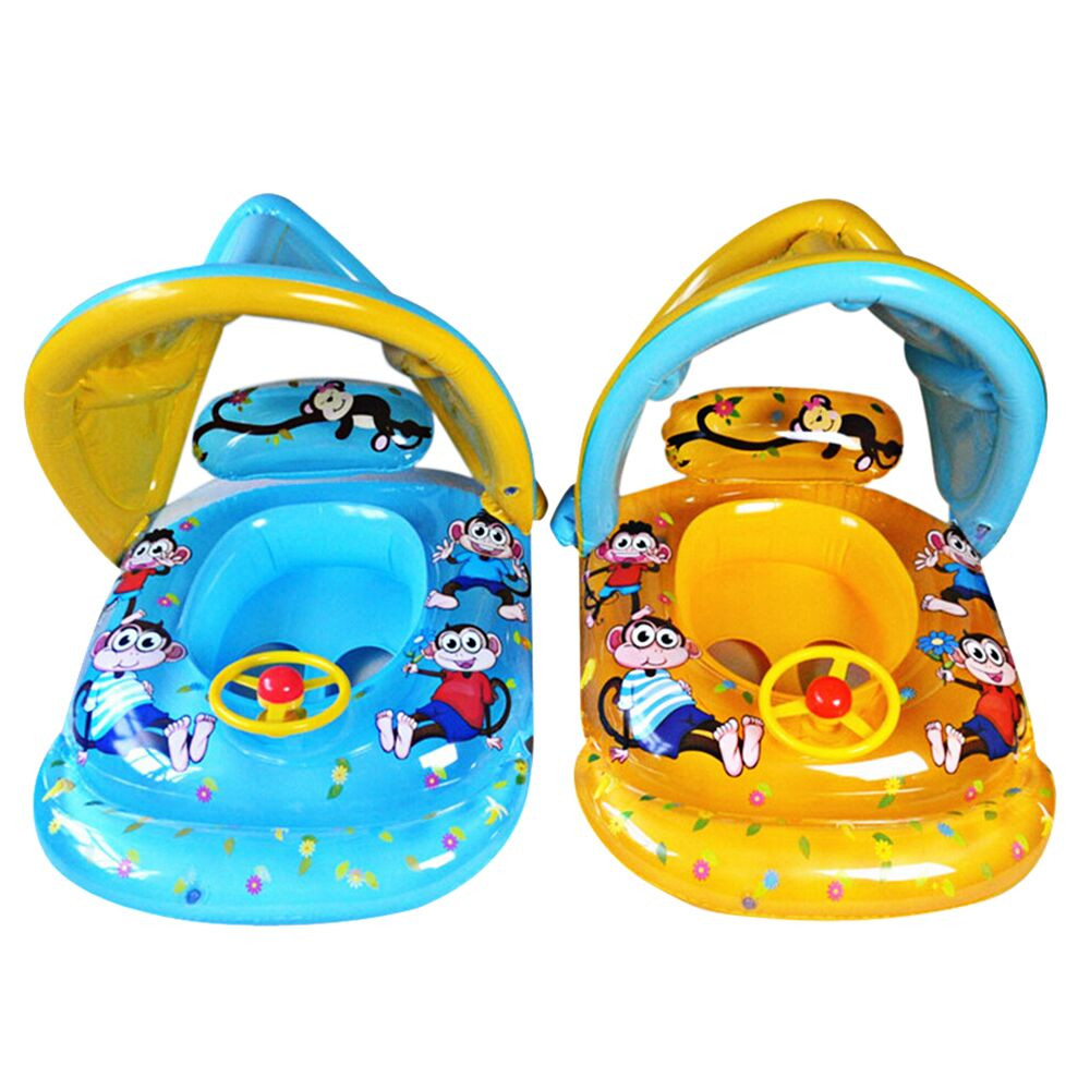 Baby Toys Swimming Pool Water Toys Baby Swimming Circle Floating Plate Summer Baby Water Sunshade Water Car