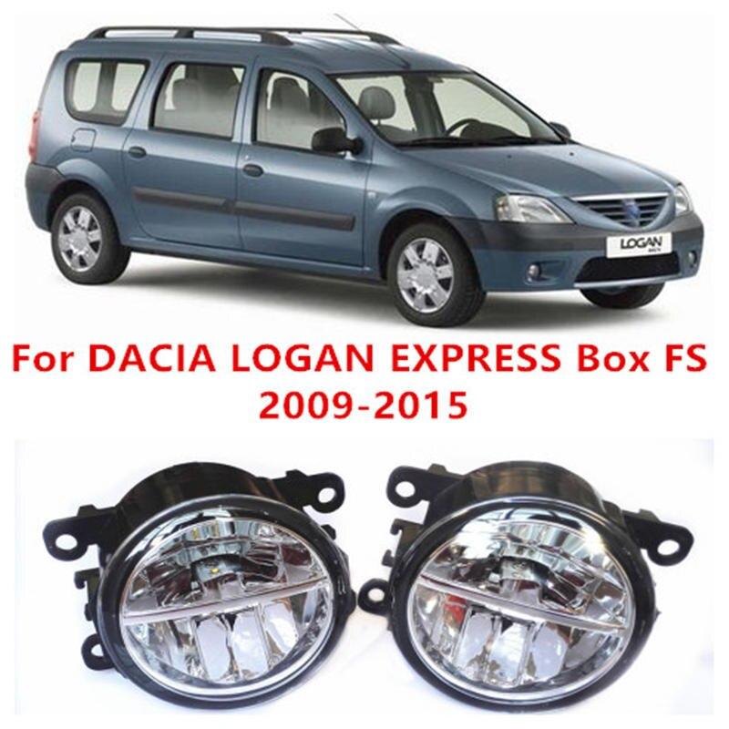 ФОТО For DACIA LOGAN EXPRESS Box FS  2009-2015 Fog Lamps LED Car Styling 10W Yellow White 2016 new lights