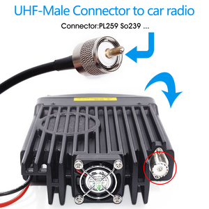 Image 4 - Abbree HH N2RS Dual Band Antenna 5M Coaxial Cable Magnetic Mount and Adapter for Baofneg UV 5R Yaesu TYT Icom Walkie Talkie