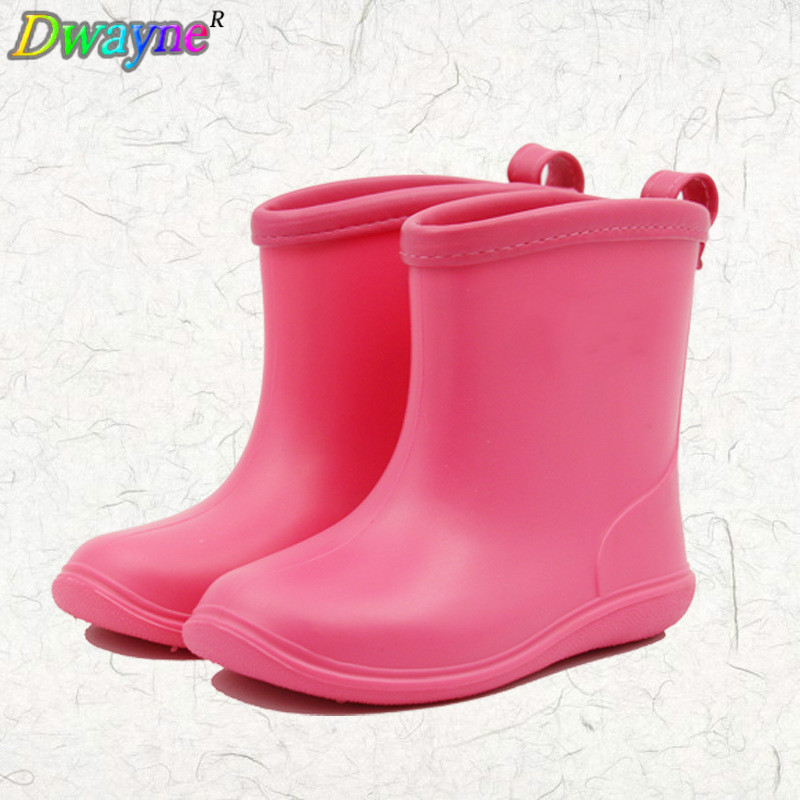 2018 Dwayne nieuwe ontwerp kinderen effen kleur regenlaarzen baby - Kinderschoenen - Foto 1