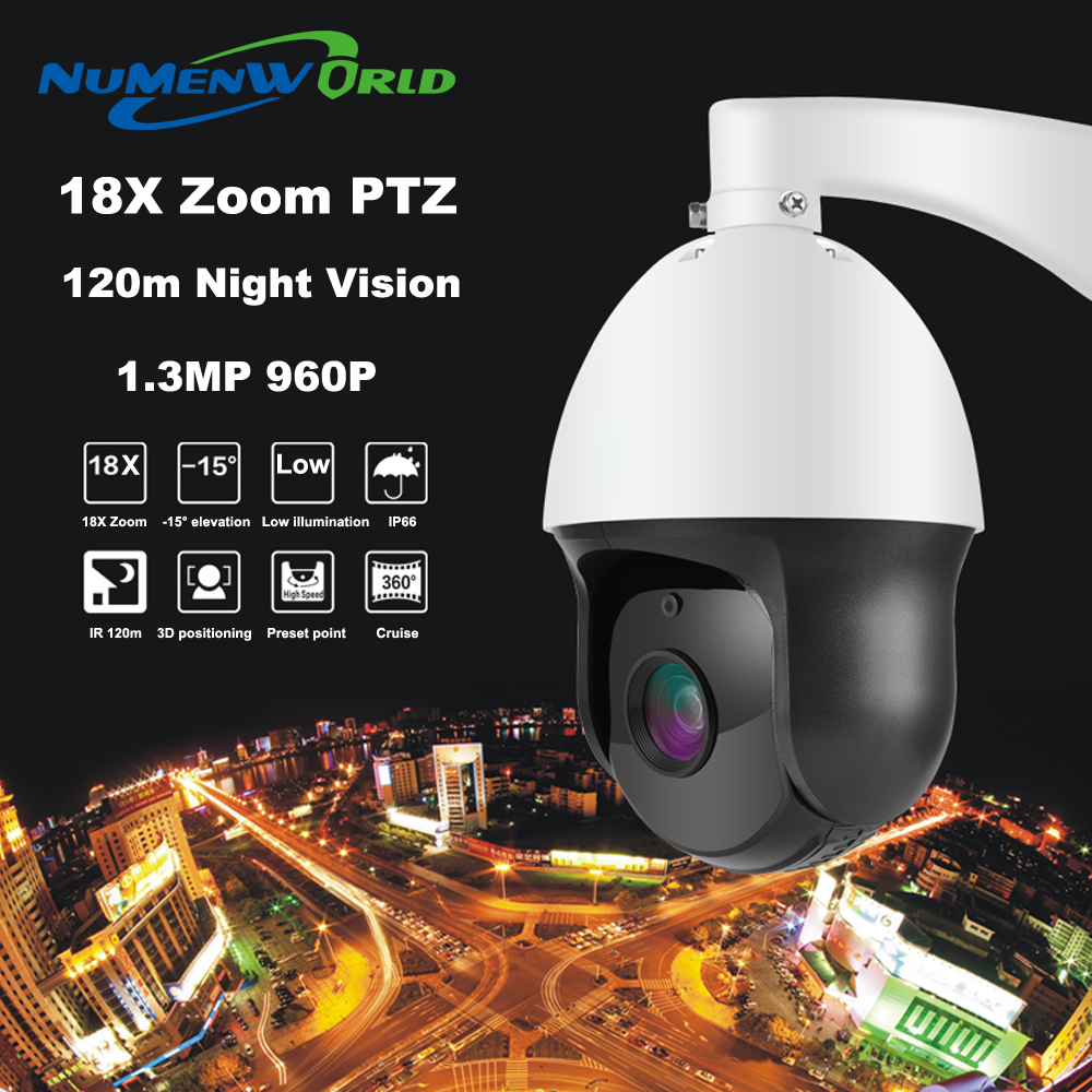 NuMenword Full HD 960P Mini PTZ IP Camera Outdoor 18X Zoom 1 3MP Network CCTV Speed