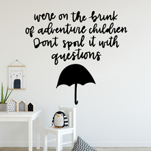 Drop Shipping MARY Vinyl Wall Sticker Decor For Kids Rooms Living Room Home Decoration Decal Stickers drop shipping theodore roosevelt quotes home decoration accessories for kids rooms home decor wall art decal
