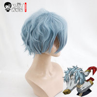 HSIU NEW High Quality Tomura Shigaraki Cosplay Wig My Hero Academy Costume Play Wigs Halloween Costumes