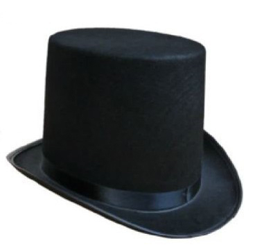 Black Hat Cap Halloween-Hat Magician Performed Jazz Stage High-Hat Women Flat And The title=