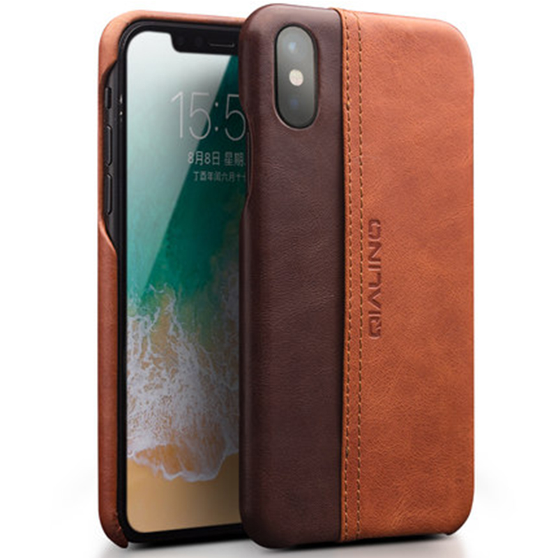 """2017 Classic Design Ultra-thin Back Phone Case for Apple iPhone X 5.8"""" Case High Quality Cowhide Genuine Leather Cover Shell"""