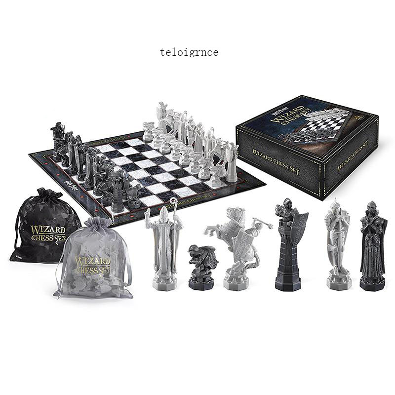 Harri Potter and the Sorcerer's Stone Movie Periphery Final Challenge Wizard Chess Chess Soldier Model Bags Boxed Edition global climate change regime's negotiations and decision making