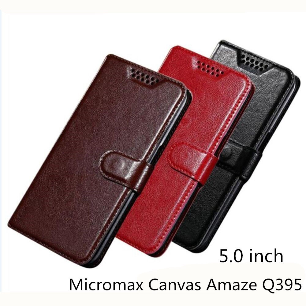 sneakers for cheap b98b8 460dc US $1.74 30% OFF|PU Leather Flip Luxury Holder Phone Bag Cases Cover For  Micromax Canvas Amaze Q395 Wallet Case-in Half-wrapped Case from Cellphones  & ...