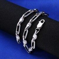 925 Sterling Silver Bracelet For Fashion Men Boy, 6mm Width Fine Bracelet