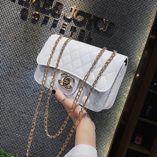 Metal Shoulder Chain Bag Solid Color Rhombic Hard Shell Small Square Frosted 2019 New Breathable Personality Handbags