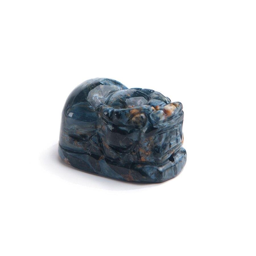 Echtes Namibia Natürliche Blau Pieter Anhänger Frauen Männer Halskette Pi Xiu Form Perle Kristall Naturstein Anhänger 27*15 * 15mm
