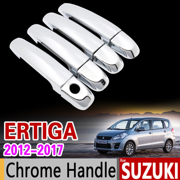 Chrome Door Handle Cover Trim Set for Suzuki Ertiga 2012 2013 2014 2015 2016 2017 2018 Mazda VX-1 VX1 Proton Ertiga Stickers image