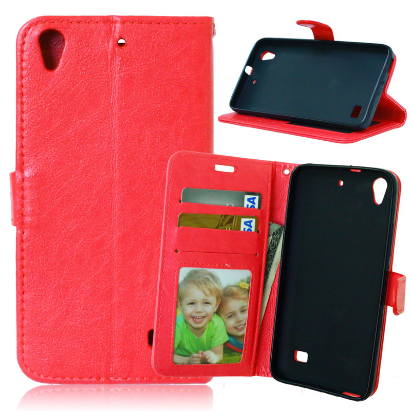 For <font><b>Huawei</b></font> Ascend <font><b>G620S</b></font> Case Flip Cover Retro Crazy Horse PU Leather Case Wallet Stand coque capinha phone bags image