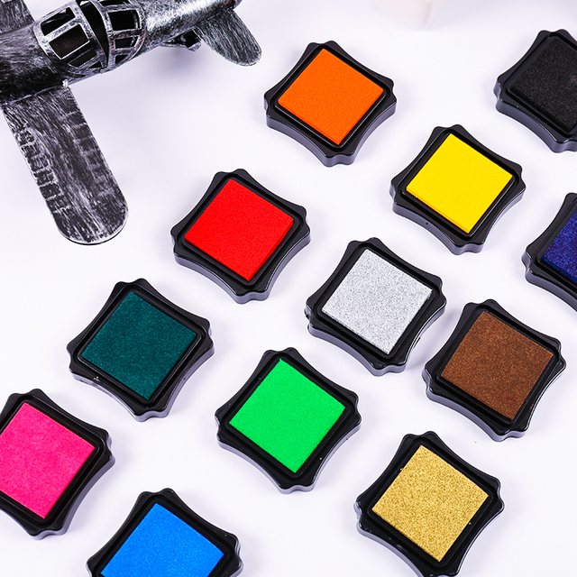 Colorful Stamp Ink Pad DIY Scrapbook Decoration Photo Album Card Inkpad Fingerprint
