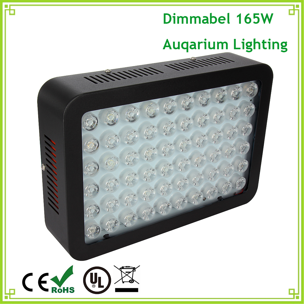 Fish aquarium lighting systems - 1pcs High Power Led Aquarium Lights 300w Dimmable Full Spectrum Led Grow Light For Plants Fish