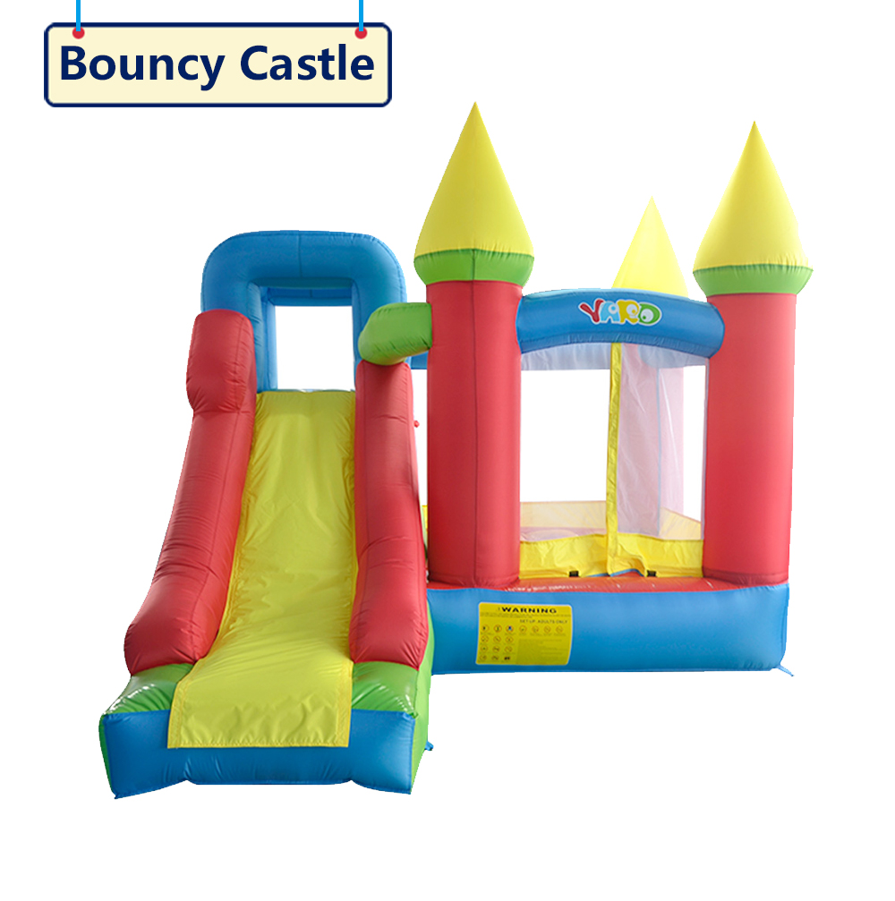 HTB1yTg.SXXXXXXrXpXXq6xXFXXXe - YARD Residential Nylon PVC Inflatable Kids Jumping Castle with Blower