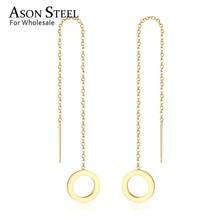 ASONSTEEL Korean Statement Long Tassel Drop Dangle Earrings 2019 for Women Stainless Steel Earring set Female Fashion Jewelry цены
