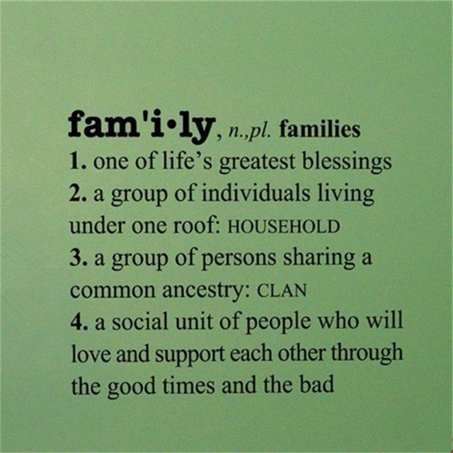 YINGKAI Family Definition Words Dictionary Decal Living Room Home Vinyl Carving Wall Sticker For