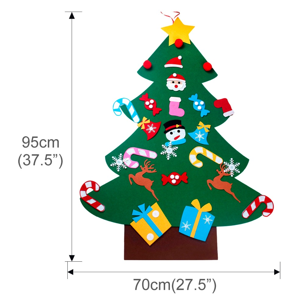 FENGRISE Kids DIY Felt Christmas Tree Decorations Xmas Hanging ...