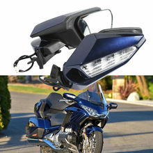 Motorcycle Motorbike Rearview Rear View Mirror LED Turn Signal light Clear Lens For Honda Goldwing GL1800 GL 1800 2018