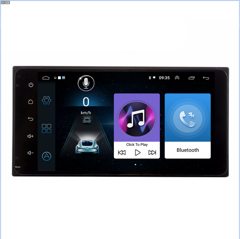 HD 1024*600 Android 8.1 Car Pc Player For Toyota Etios