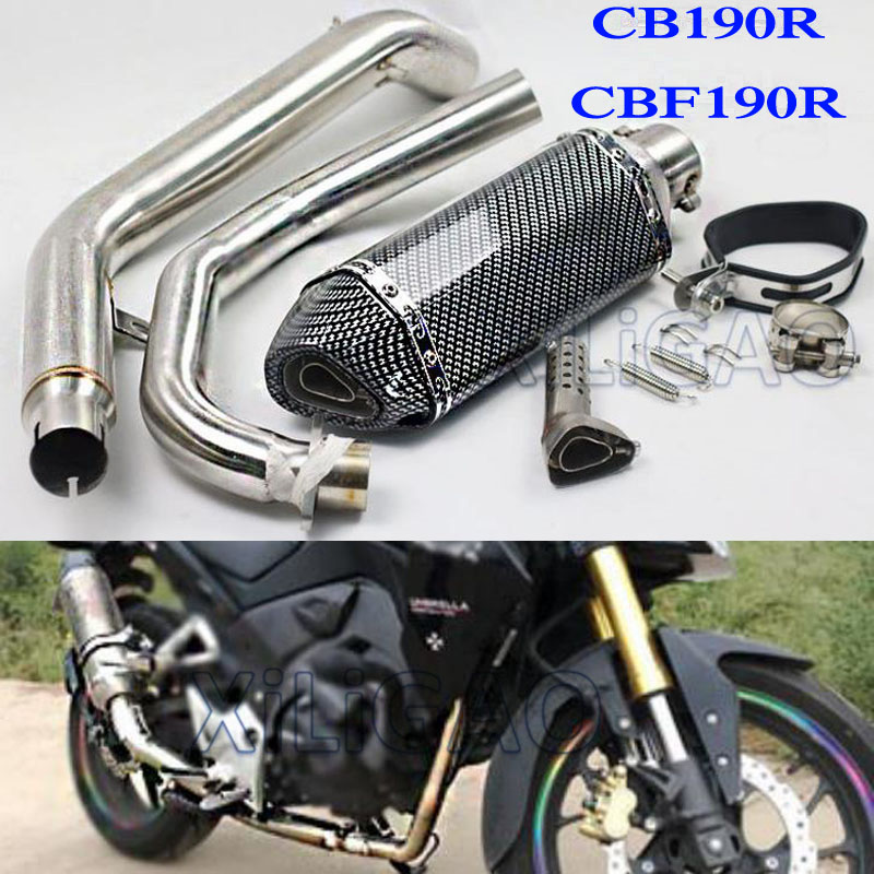 MOTORCYCLE EXHAUST PIPE MUFFLER MIDDLE LINK PIPE DB KILLER ESCAPE DIRT BIKE SCOOTER FOR HONDA CB190R