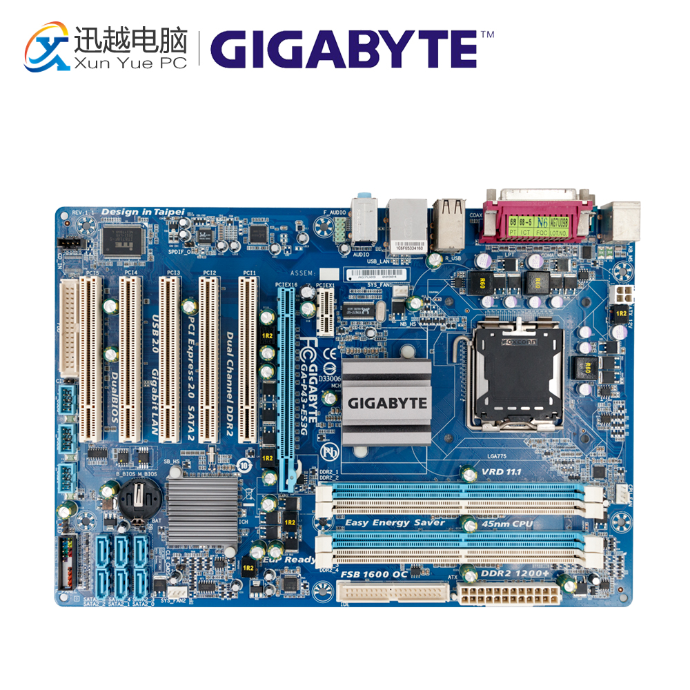 Gigabyte GA-P43-ES3G Desktop Motherboard P43-ES3G P43 Socket LGA 775 DDR2 ATX On Sale стоимость