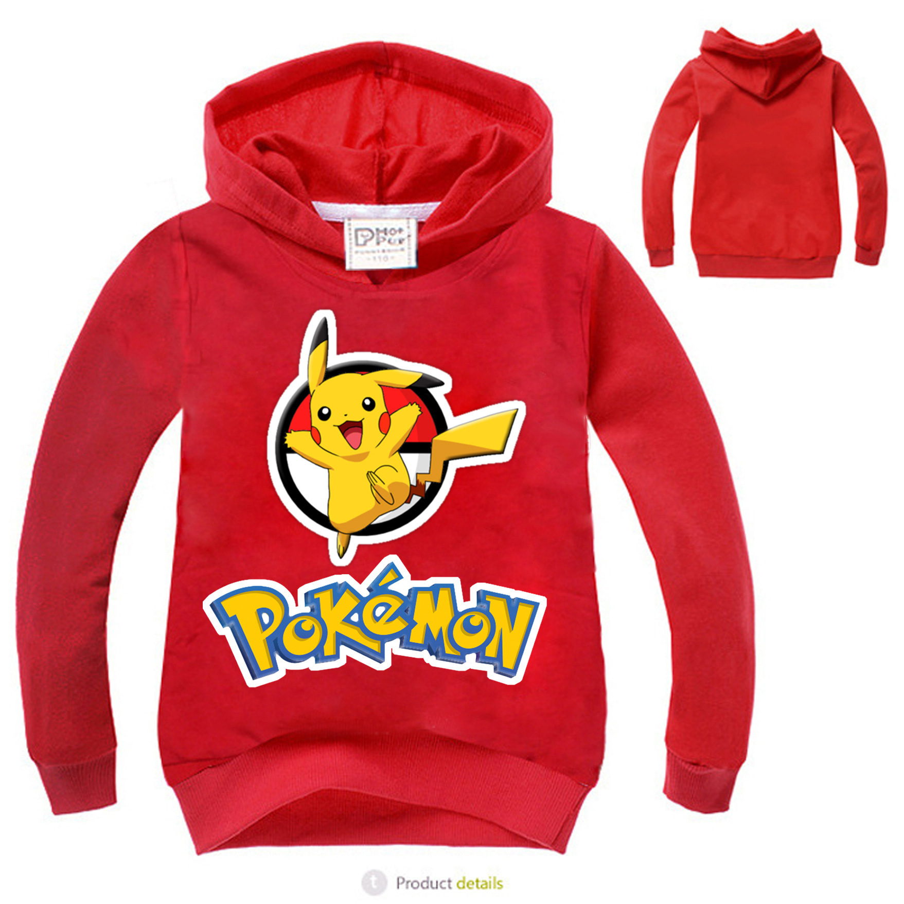 2017 spring Autumn hoo s Cotton Cartoon POKEMON GO Pikachu Kids