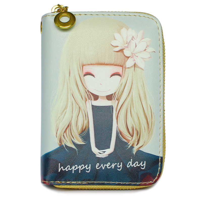 Zipper Coin Purse Pocket Wallets Cartoon Girls Lady Wristlet Bag Clutch Woman Mini Purses ID Card Holder Short Wallet Burse Bags dias de nevada