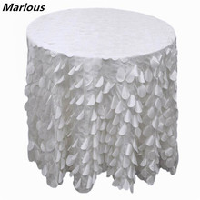 120 inch Petal Table Cloth & Leaves Wedding Custom 10 pieces