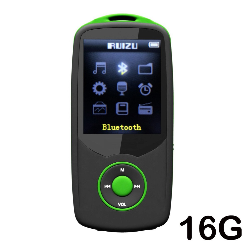 Original RUIZU X06 MP4 Player 16G Lossless Sound Music Media player With FM Radio,Video,Voice Record and Expandable MicroSD Slot
