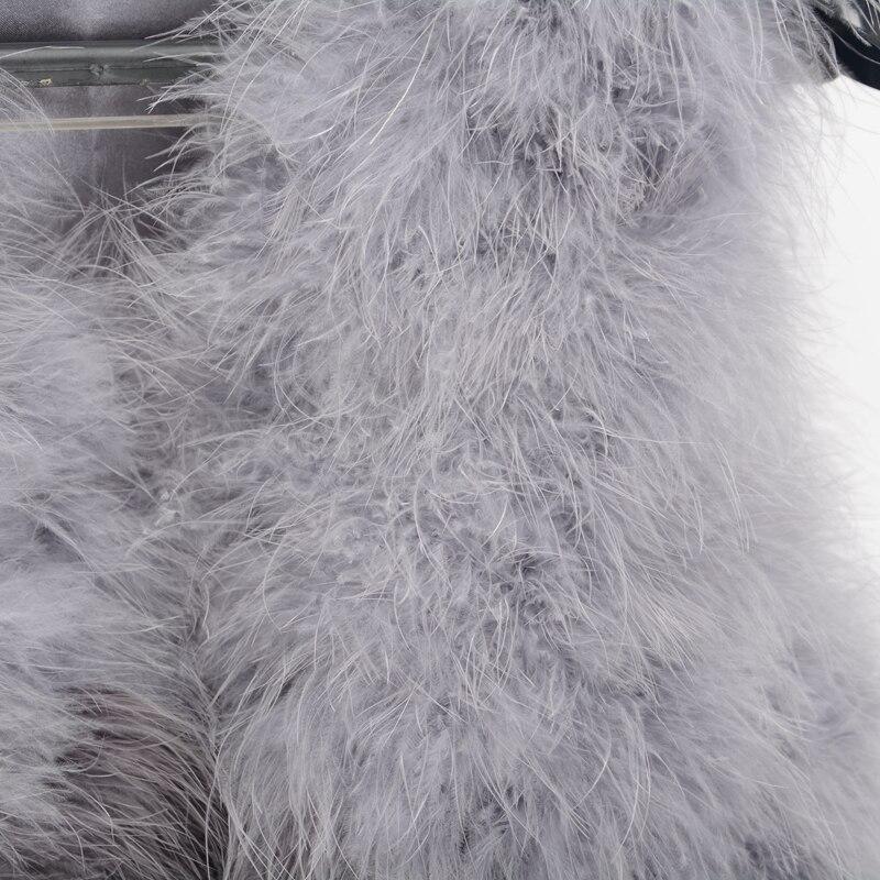 Mode Veste Réel Couleur Gilet Détail Nouvelle En Plume D'autruche S1425 Au Grey De Mixed Véritable en Fourrure Gros Femmes Red mixed Max Mélangée Jancoco xwz7qtZYY
