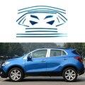 Полная Отделка Окна Отделка Полосы Из Нержавеющей Стали Автомобилей Стайлинг Аксессуары Для Opel Mokka 2012 2013 2014 2015 OEM-8-16-24