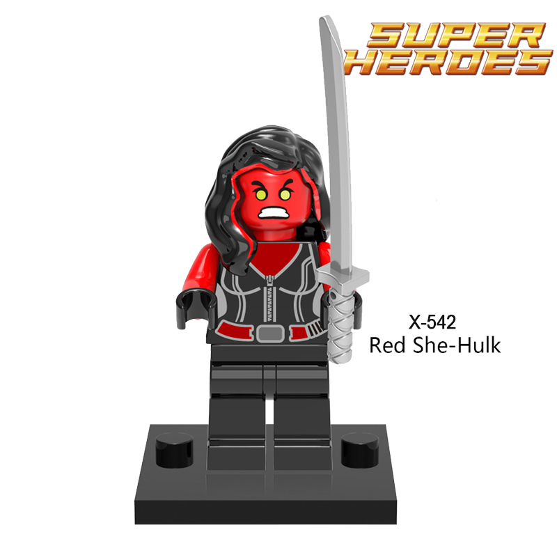 Building Blocks Red She Hulk Coulson Action Figures Star Wars Super Heroes Avengers Wolverine Set Bricks Kids DIY Toys Hobbies